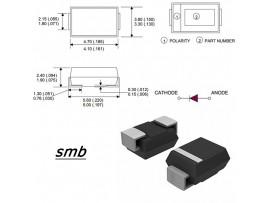 10BQ015 (15V/1A) Диод Шоттки   SMB