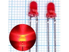 LED DFL-3014SRD кр.миг.мат.3,2мКд;d=3