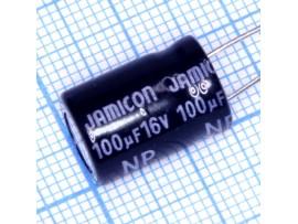 Конд.100/16V 1016 NPL +85°C