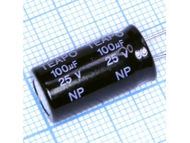 Конд.100/25V 1020 NPL +105°C