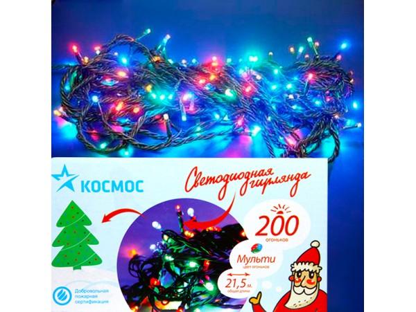 Гирлянда уличн KOC 200LED разноцвет 22,9м