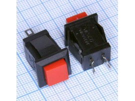 DS-431 250V/1,5A off-(on) NO красная кнопка