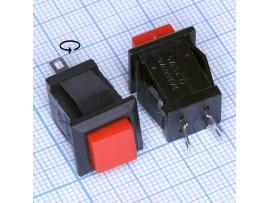 DS-431 красн. кнопка без фикс., 220V/2A 12.03