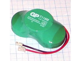 Аккумулятор 3,6V/320 (3*d=25;h=9)GP NIMH T116M