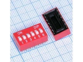 SWD1-6 переключатель DIP (DS-06, SWD1-6)