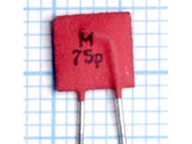 Конденсатор 75p/50V К10-7в