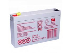 Аккумулятор 6V/7,2Ah GP672 150х35х95
