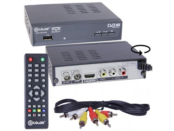 D-COLOR DC1401HD ресивер эфирный DVB-T2,HD