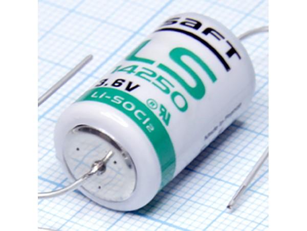 LS14250 CNA Батарея 3,6V 1/2АА (d=14;L=25) с выводами