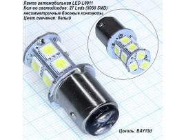 LED-L0911 BAY15d white 27 Leds 5050SMD