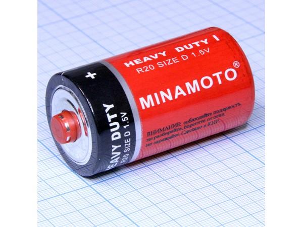 Элемент питания 1,5V R20 Minamoto