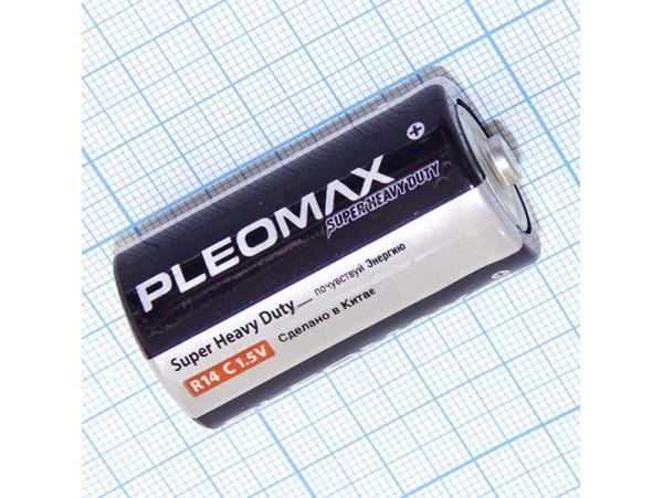 Элемент питания 1,5V R14 PLEOMAX