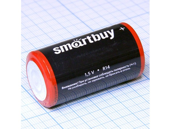 Элемент питания 1,5V R14 Smartbuy
