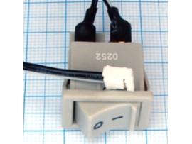 PC 250V/6A on-off со жгутом серый переключатель