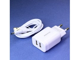 ET-08 ~220V>5V(2,1A) USB2 Преобр.напряжения ENERGY