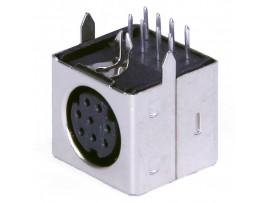 MDN-8FR Розетка 8к. на плату mini DIN