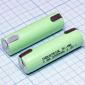 Аккумулятор 1,2V/2000 (d=14;L=48) NiMh с лент. выводами