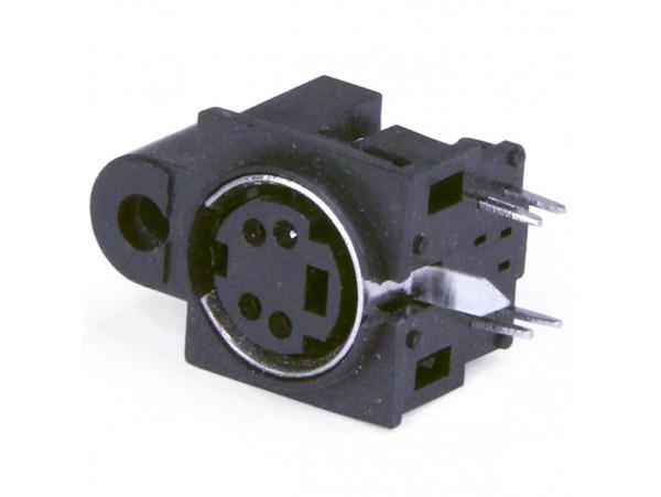 MDN-4FR Розетка 4к. пластик mini DIN