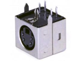 MDN-4FRS розетка 4-pin,на плату, экран. mini DIN