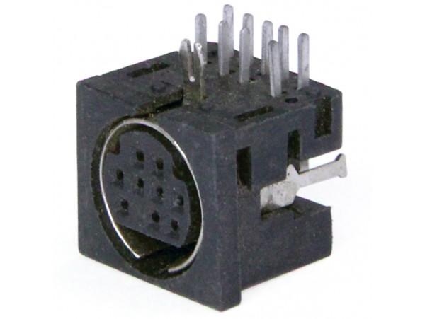MDN-9FR Розетка 9к. на плату mini DIN