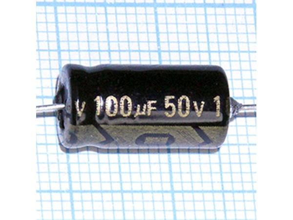 Конд.100/50V(аксиал)