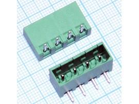 5EHDRC-04P клеммник 4к шаг 5мм