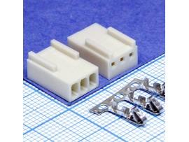 HU-3 2,54 розетка 3к.на кабель