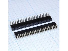 PBD-50R 2.54 Розетка 50к.(2х25) на плату угловая