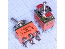 KN3C-203 Тумблер 6к3п 250 V, 15 A (E-TEN1322)