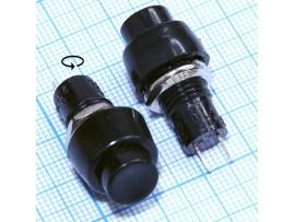 DS-450 Кнопка без фикс.220V/2A кругл. 12.88 черная