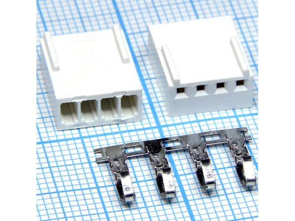 HU-4 2,54 розетка 4к.на кабель