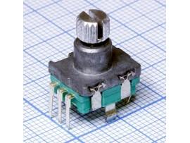 Энкодер R21 металл ручка зубч. L=11 мм без кнопки