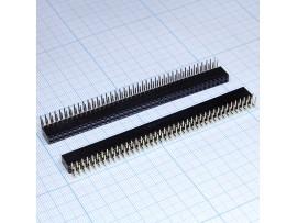 PBD-80R 2.54 Розетка 80к.(2х40) на плату уголовая