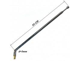 АНТЕННА d=5; 85/230 телескопическая с поворотным устр.