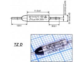 TZ D-117-16A Термопредохранитель