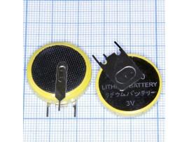 CR2450P Батарея 3V (с выводами, верт.)