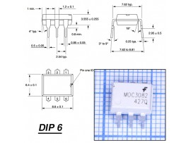 MOC3082M Оптопара   DIP6