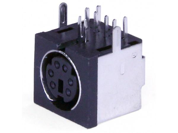 MDN-6FR Розетка 6к. на плату mini DIN