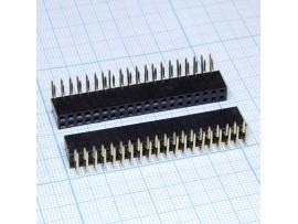 PBD-40R 2.54 Розетка 40к.(2х20) на плату угловая