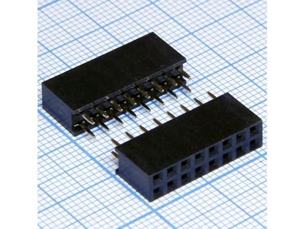 PBD-16G 2.54 Розетка 16к.(2х8) на плату