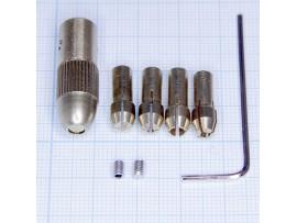 Патрон цанговый вал 3 мм