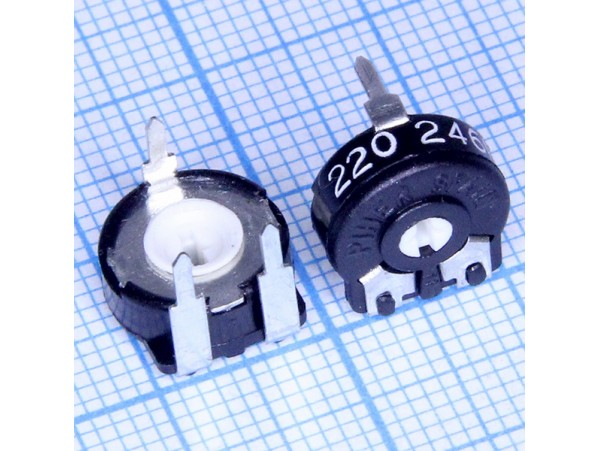 Рез. 220 Ом Trim CA9V =10 (гор.)