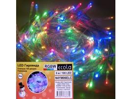 Гирлянда 100LED RGB, 6м, 8 реж.Ecola уличн. IP44