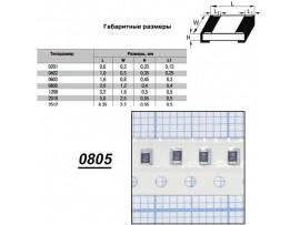 Чип рез.F0805-1К 1%