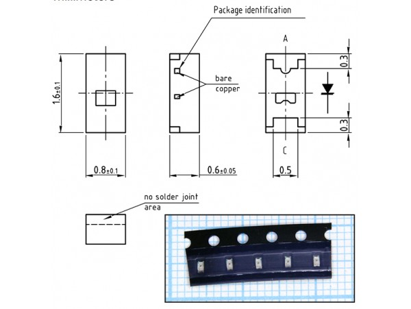 Чип LED гол. 0603 (GSM)
