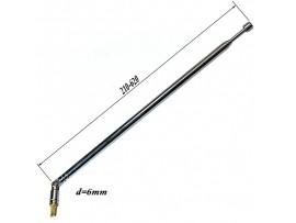 АНТЕННА d=6; 210/620 телескопическая с поворотным мех.