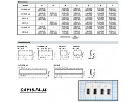 CAY16-103J4 (4х10кОм±5%) чип. Сборка рез.