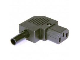 AC-102R2  Розетка СЕТЬ на кабель угловая