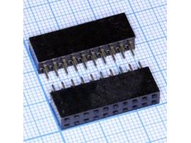 PBD-20 2.54 Розетка 20к.(2х10) на плату