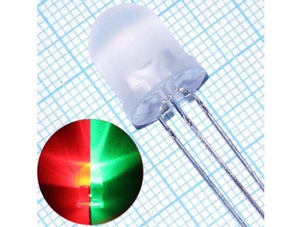 LED L-819SURKMGKW кр/зел.d=10